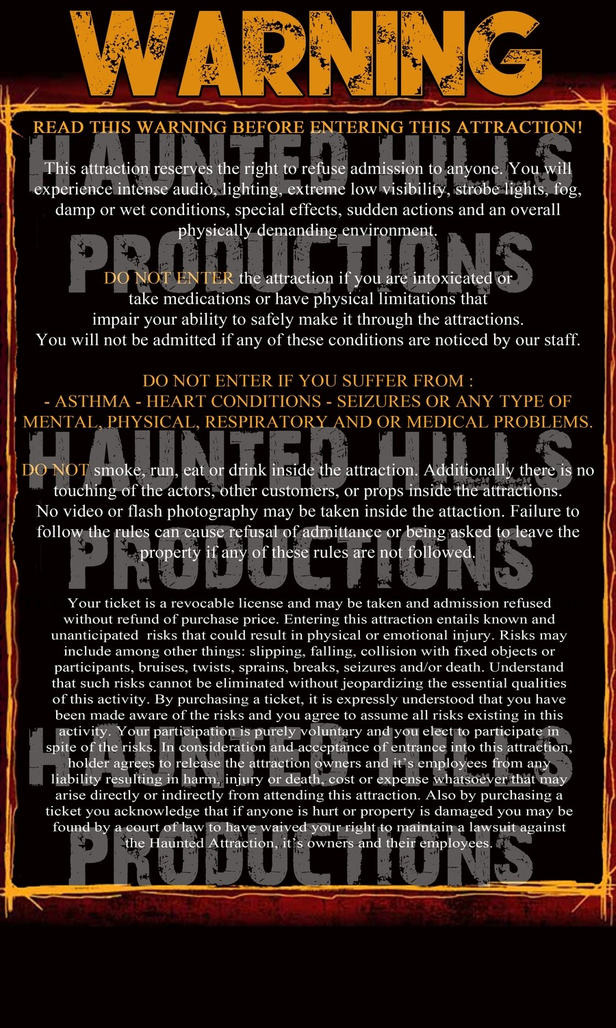 Rules Sign Vinyl Poster