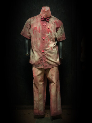 Ice Cream Clown Costume with Colored Bow Tie