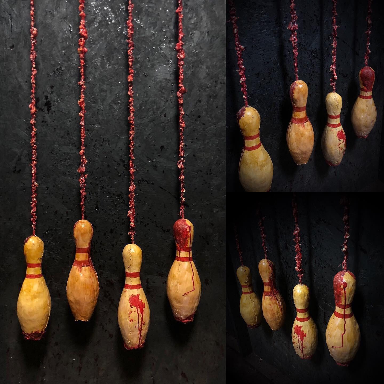 Realistic Bowling Pins Set Of 4