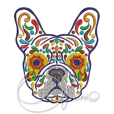 French Bulldog Calavera