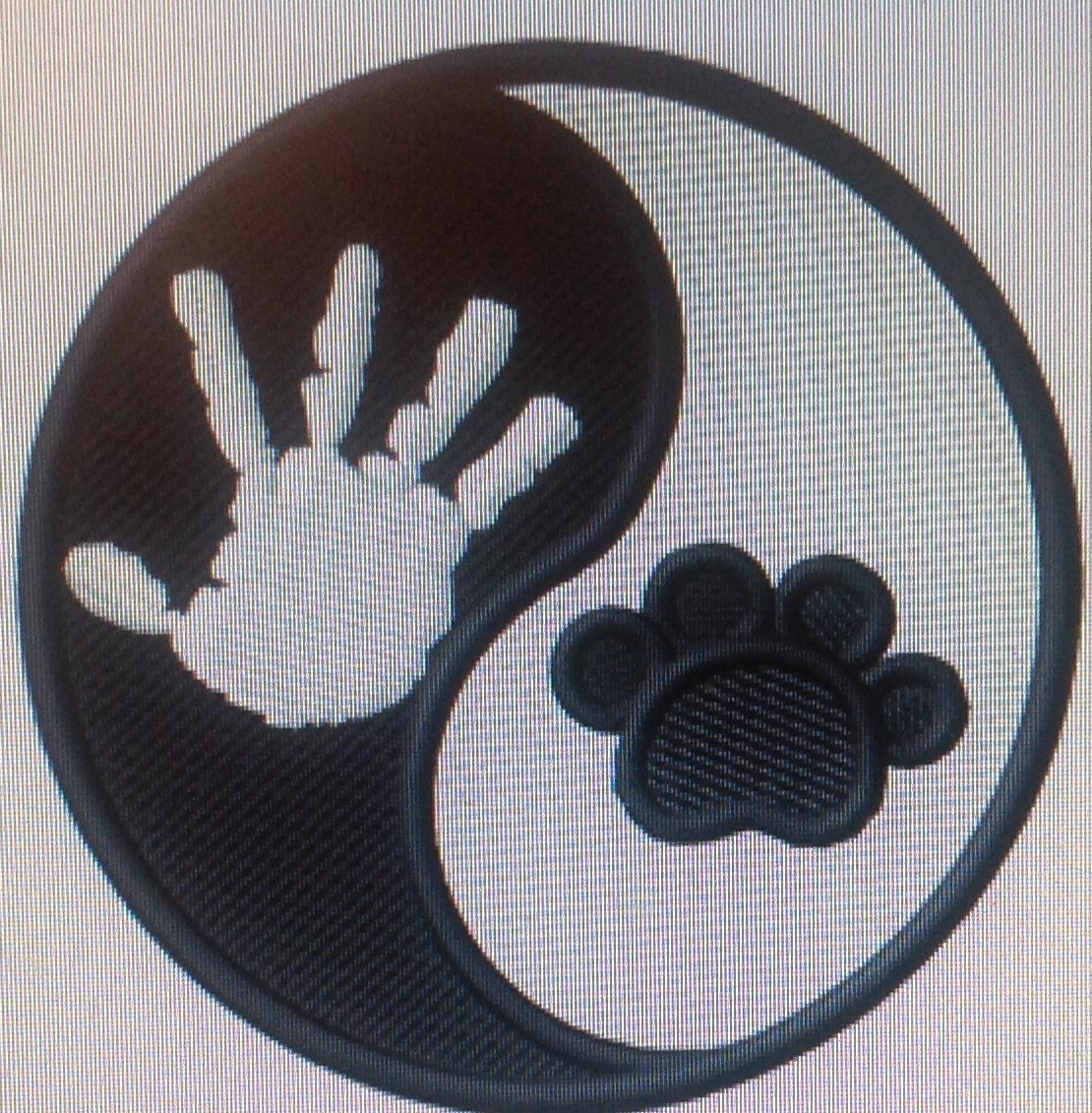 Hand and Paw Dog Paw Embroidery Design
