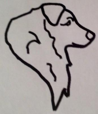 Australian Shepherd Head Outline
