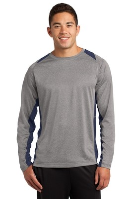 ST361LS Sport-Tek® Long Sleeve Heather Colorblock Contender™ Tee