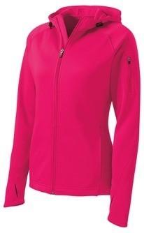 Sport-Tek® Ladies Tech Fleece Full-Zip Hooded Jacket L248