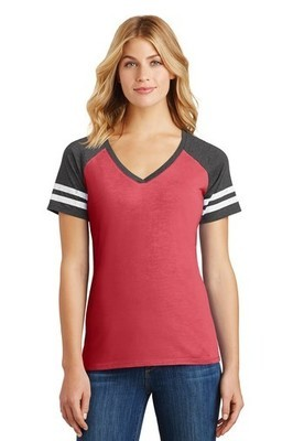DM476 District Made® Ladies Game V-Neck Tee