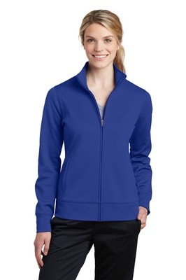LST241 Sport-Tek® Ladies Sport-Wick® Fleece Full-Zip Jacket Brand Logo
