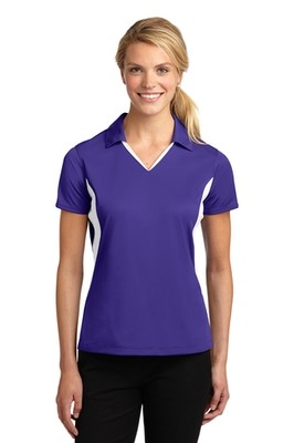 LST655  Sport-Tek® Ladies  Side Blocked Micropique Sport-Wick® Polo