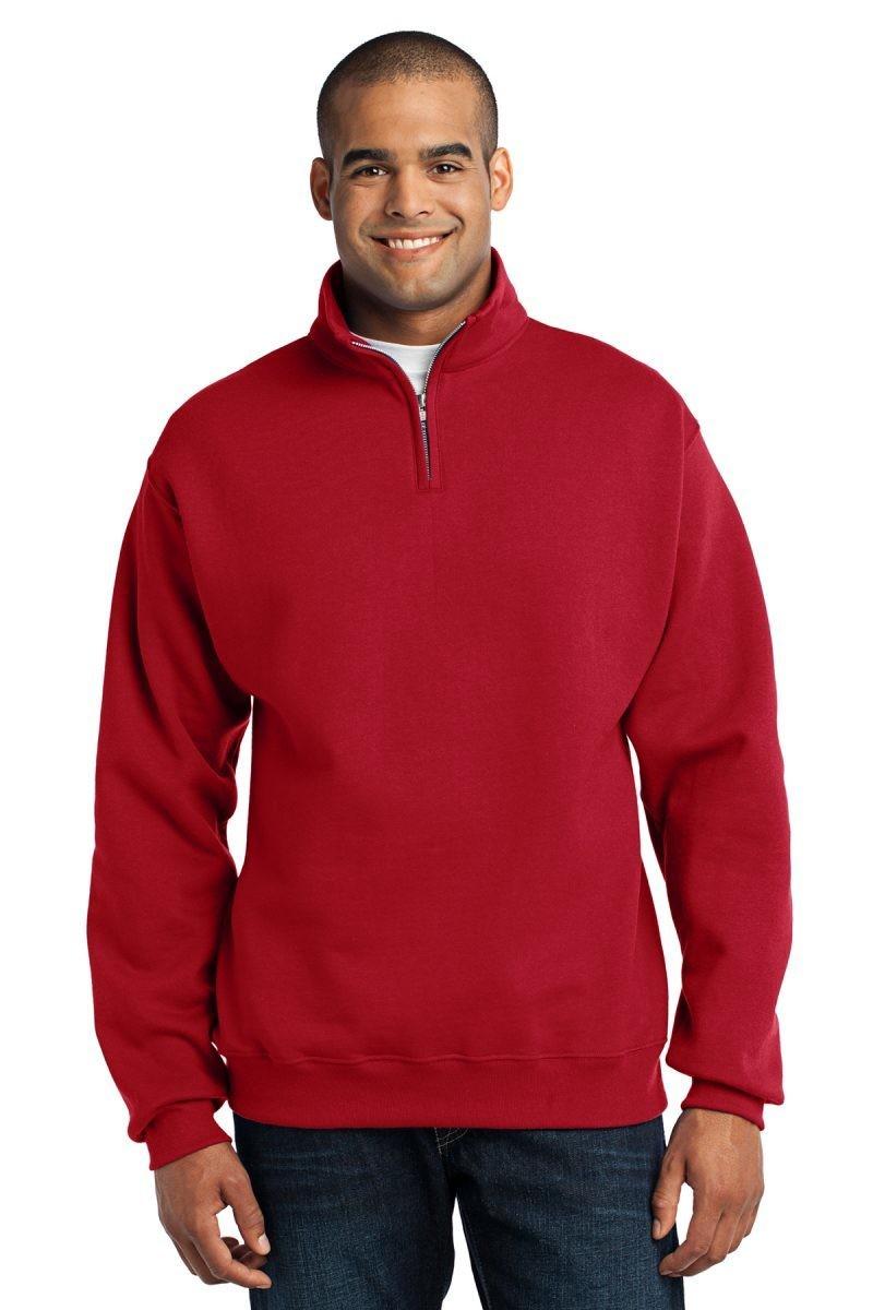 995M JERZEES® - NuBlend® 1/4-Zip Cadet Collar Sweatshirt