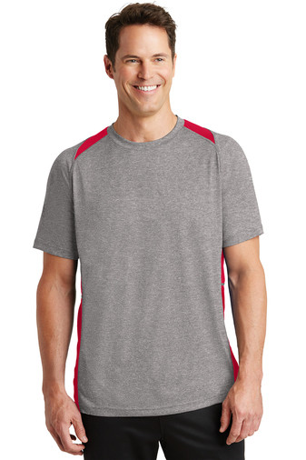 ST361 Sport-Tek® Heather Colorblock Contender™ Tee