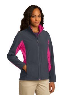 Port Authority® Ladies Core Colorblock Soft Shell Jacket. L318.