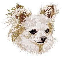 Chihuahua 3 (white) Dv206