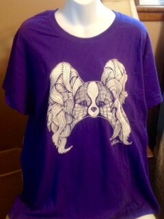 Ladies Purple Crew Collar Shirt