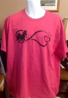 Papillon Infinity Karen Baird Screen print Unisex Crew Collar Sangria T-Shirt