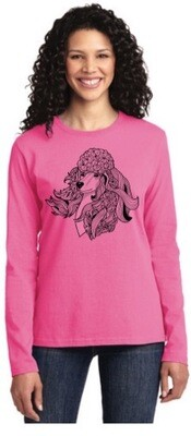 Port & Company® Ladies Long Sleeve Core Cotton T LPC54LS