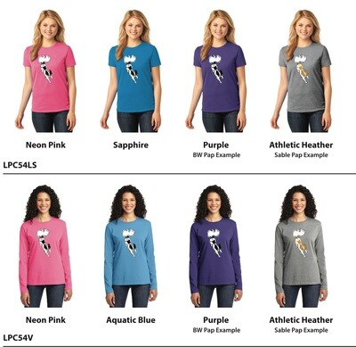 LPC54 Port & Company® Ladies Core Cotton Tee