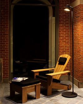 NEW ENGLAND Нью Ингланд кресло и пуф из тика Royal Botania
