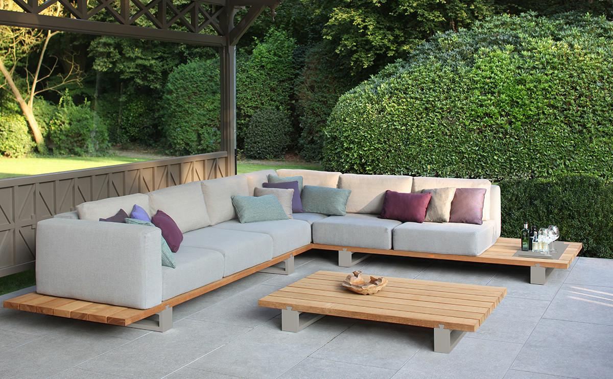 VIGOR LOUNGE Вигор лаунж мебель из тика и алюминия Royal Botania Бельгия