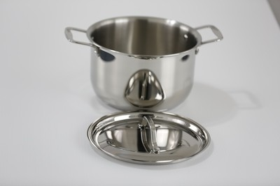 SS1- 3.91 Qt. Stainless Steel Queen Sauce Pot with Cover