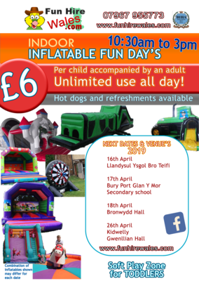 Indoor Inflatable Fun Day Llandysul