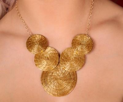 Goldgras Mandala Kette