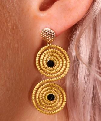 Goldgras Wirbel-Ohrringe