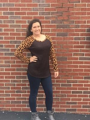 Charcoal & Leopard Long Sleeve