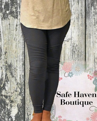 Curvy Girl Moto Leggings