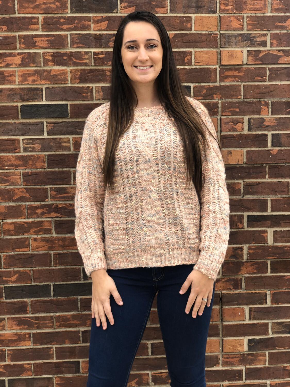 Blush Confetti Sweater