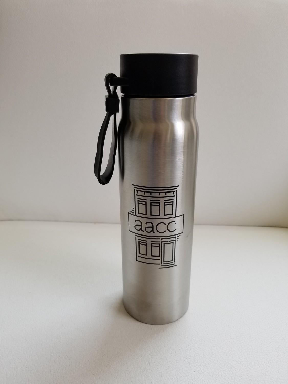 AACC Silver Water Bottle