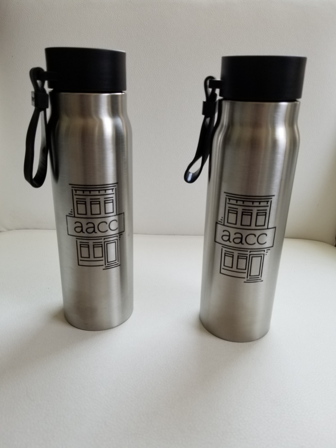 AACC Silver Water Bottle (Two Discount Special!)