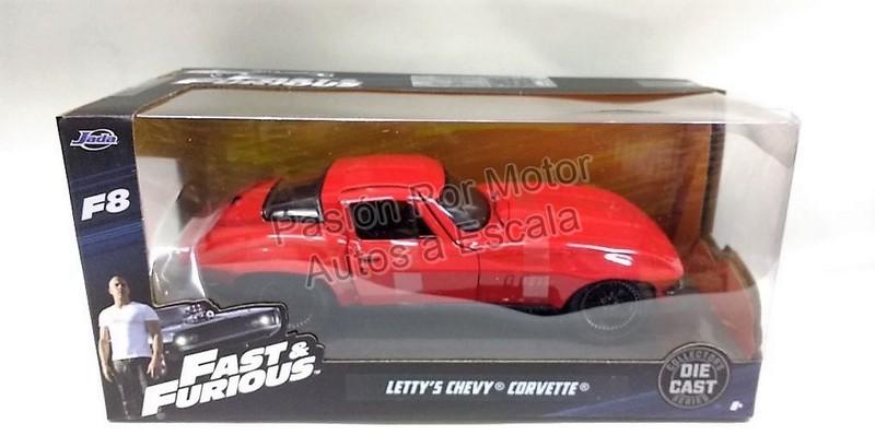 1:24 Chevrolet Corvette 1966 Letty's Rapido Y Furioso 8 Jada Con Caja
