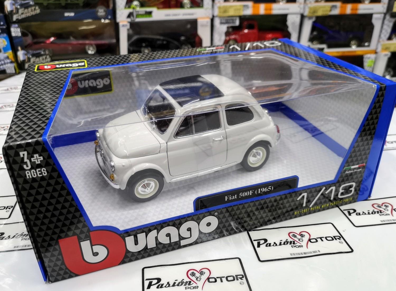 1:16 Fiat 500 F 1965 Blanco Cinquecento Bburago 1:18