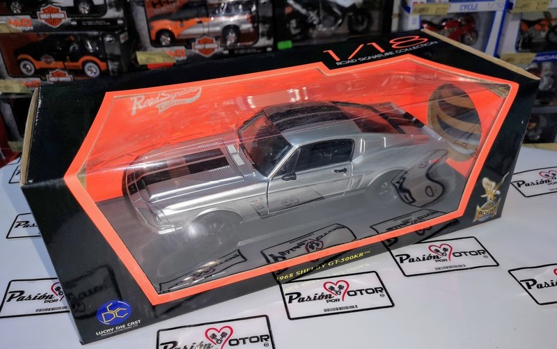 1:18 Shelby Gt500kr 1968 Plata Road Signature Ford Mustang