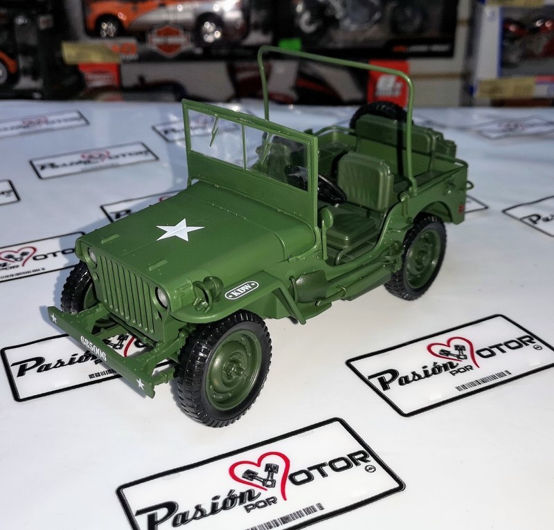 1:18 Jeep Tactical Willys Verde Militar Kdw