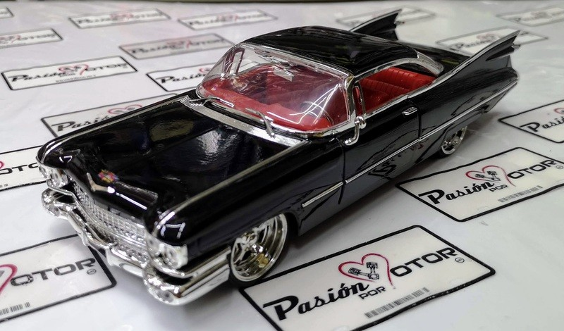 1:24 Cadillac Coupe Deville 1959 Negro Jada Toys Big Time Kustoms En Display / A Granel