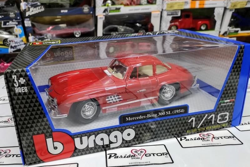 1:18 Mercedes Benz 300 SL 1954 Rojo Alas De Gaviota Bburago