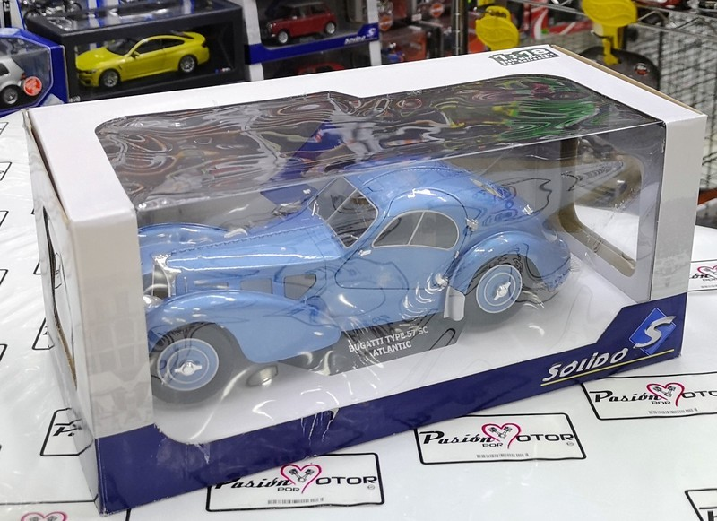 1:18 Bugatti Type 57 Sc Atlantic 1938 Azul Solido