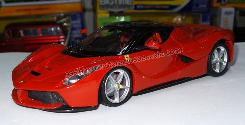 1:24 Ferrari LaFerrari 2013 Rojo Bburago Burago En Display / A Granel