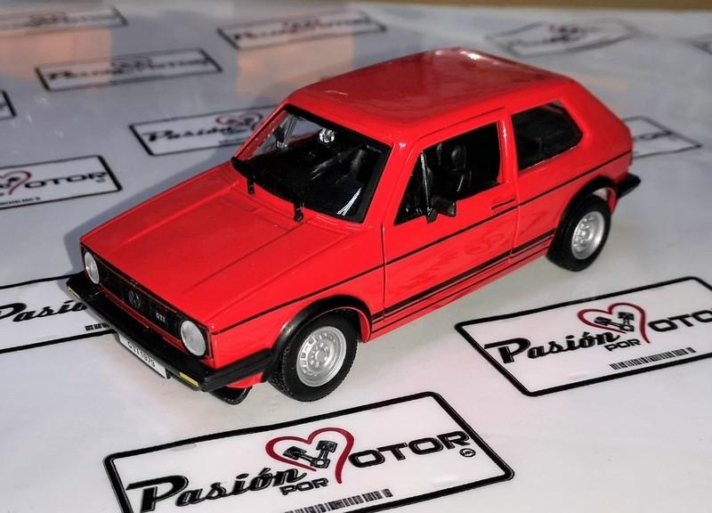 1:24 Volkswagen Golf Gti 1979 Rojo Bburago Burago Caribe En Display / A Granel