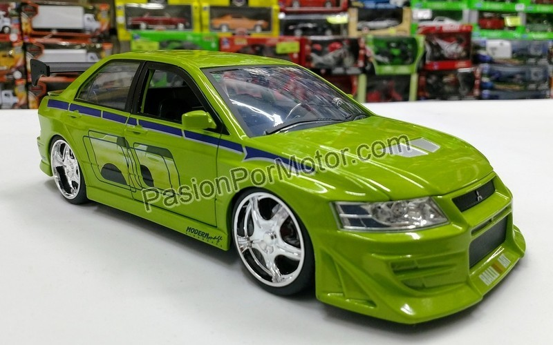 1:24 Mitsubishi Lancer Evo VII Rapido Y Furioso Jada Toys En Display / A Granel
