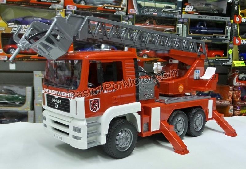 1:16 Man TGA 41.440 Camion De Bomberos Con Escalera Bruder