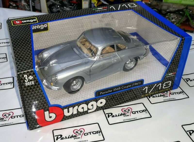 1:18 Porsche 356 B 1961 Plata Bburago Burago