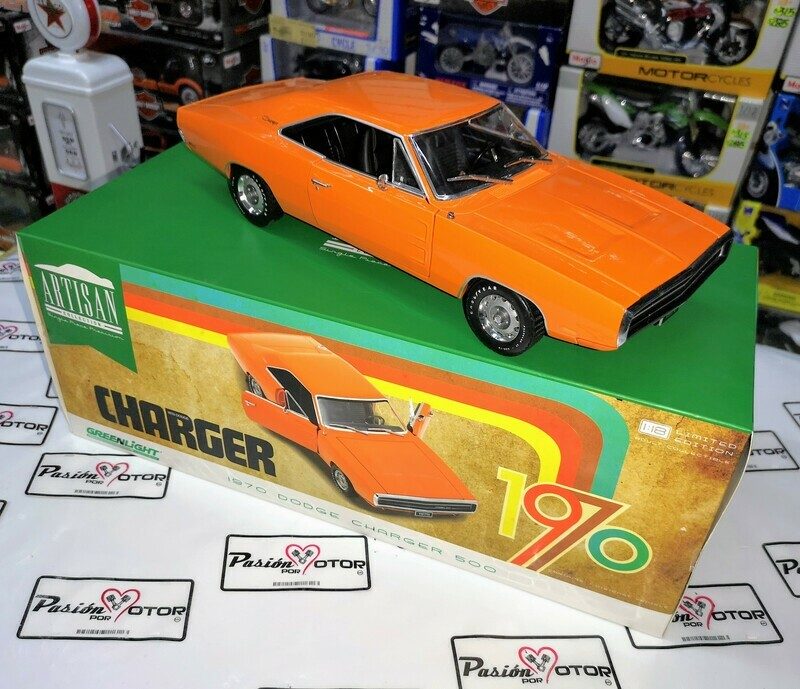 1:18 Dodge Charger 500 1970 Naranja Greenlight Artisan