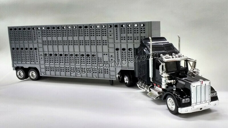1:43 Kenworth W900 1979 C Caja Ganadera Gris Trailer New Ray