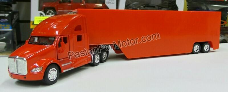 1:68 Kenworth T700 Rojo C Caja Seca Panzona Trailer Kinsmart 1:64 En Display / a Granel