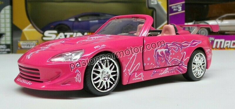 1:32 Honda S2000 Suki´s Rosa Rapido y Furioso Jada Toys En Display a Granel