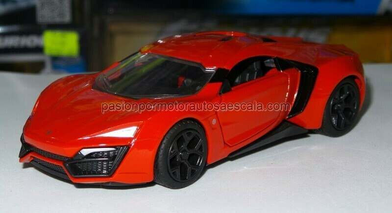 1:32 W Motors Lykan HyperSport 2013 Rojo Jada Toys En Display / a Granel