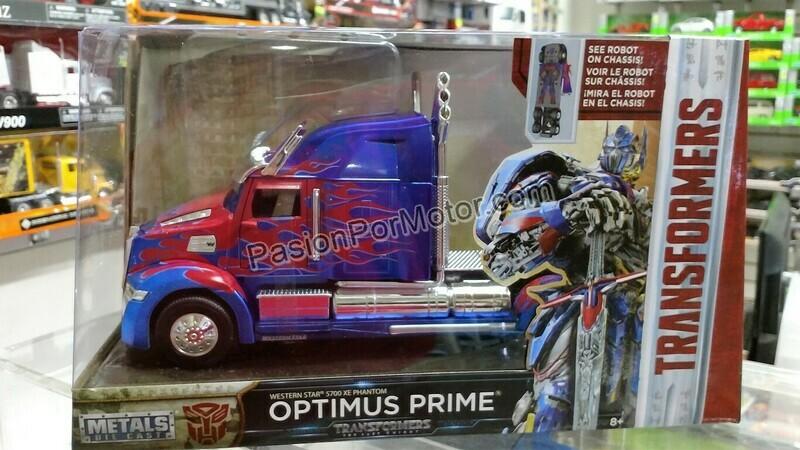 1:32 Western Star 5700 XE Phantom Optimus Prime Transformers Jada C Caja