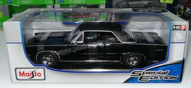 1:18 Pontiac GTO 1965 Negro Maisto Special Edition