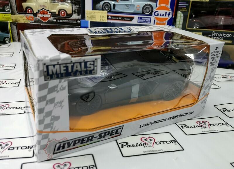 1:24 Lamborghini Aventador LP750-4 SV Negro Mate Jada Toys Hyper Specs En Caja